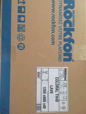 Paneles acústicos Rockfon th40 lave 1200x600x40