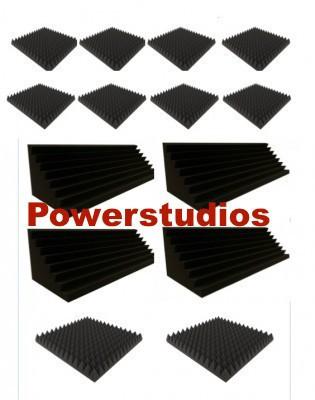 Kit  promoción 10 paneles acústicos 7cm+4 trampas 100x30x30 nuevos en stock `envío incluido`