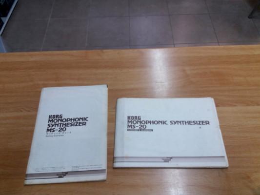 Manuales originales Korg MS-20