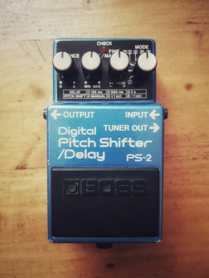 Boss PS-2 Digital Pitch Shifter / Delay Made in Japan Blue Label