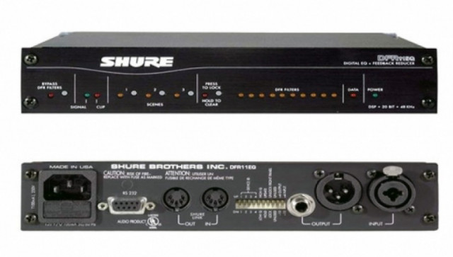 Conjunto 2 unidades DFR11 Shure - Supresor anti feetback y EQ