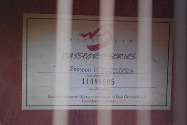 VENDO GUITARRA ELECTROACÚSTICA BREEDLOVE C250/SBe