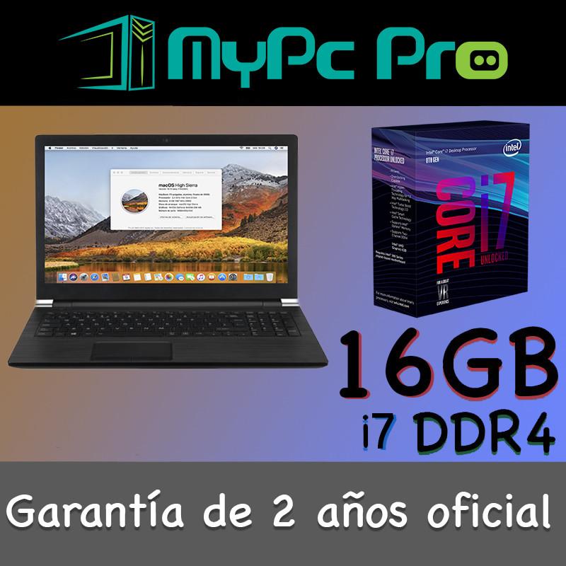 Portátil Hackintosh Mac Os Pro intel i7 16 GB RAM 250 GB SSD 15,6 de  segunda mano por 1680 € en Madrid