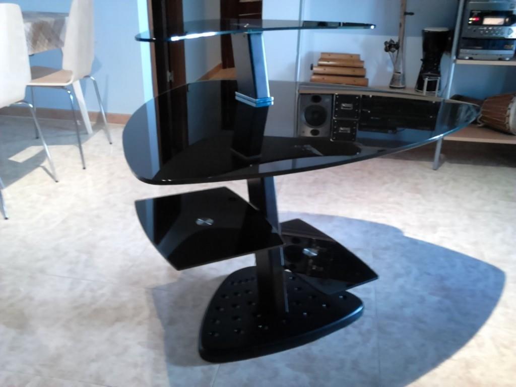Comprar mesa de estudio de acero y cristal templado en for Mesa cristal estudio