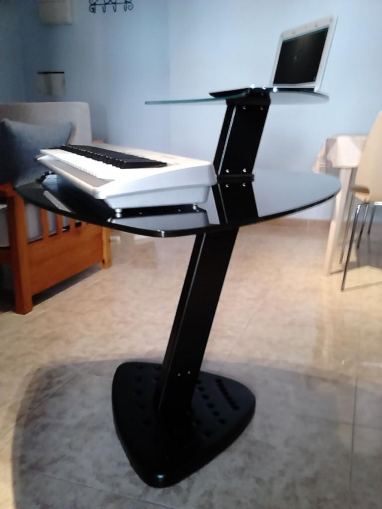 Comprar mesa de estudio de acero y cristal templado en - Mesa estudio cristal ...
