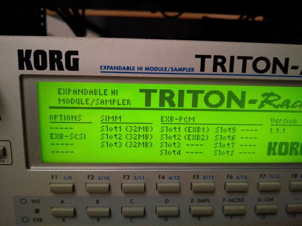 Korg triton Rack Manual
