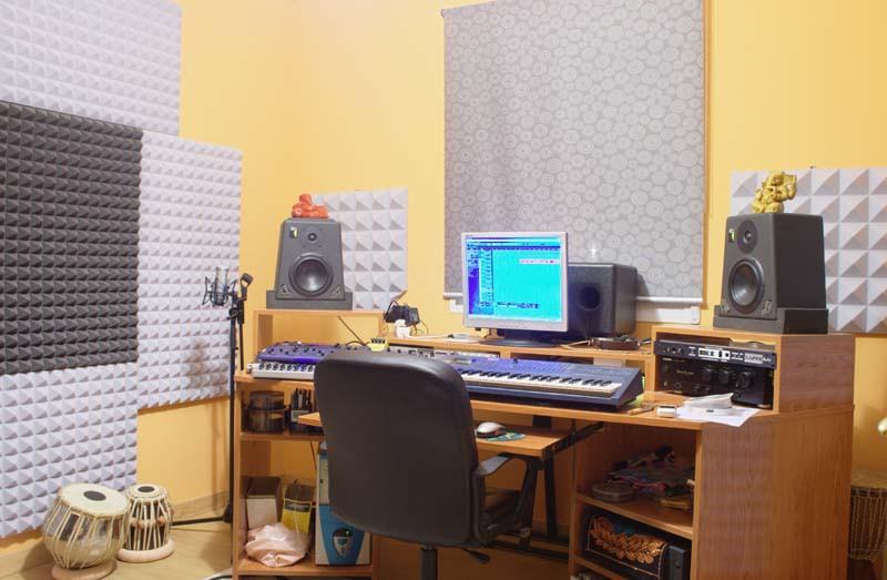 Vendo mueble para estudio de grabaci n mesa con rack en - Muebles para estudio de grabacion ...